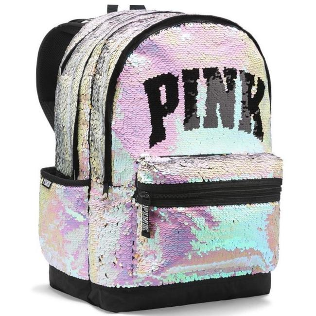 Item - Pink Sparkle Iridescent Bling Laptop Gold Sequin Pearl Silver White Backpack