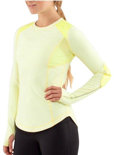 Item - Yellow Stripped Run: Ice Queen Activewear Top Size 4 (S)