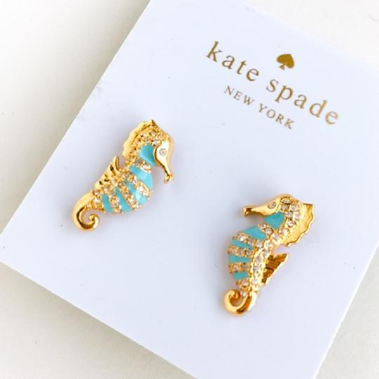 Kate Spade KATE SPADE Paradise Found Seahorse Stud Earrings Gold Plated Image 1