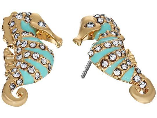 Kate Spade KATE SPADE Paradise Found Seahorse Stud Earrings Gold Plated Image 2