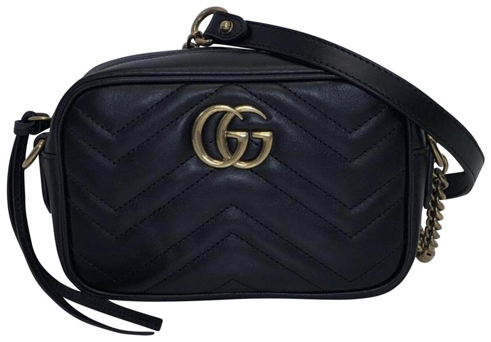 bc7d72a5f Gucci Marmont Marmont Metelasse Leather Shoulder Cross Body Bag Image 0 ...