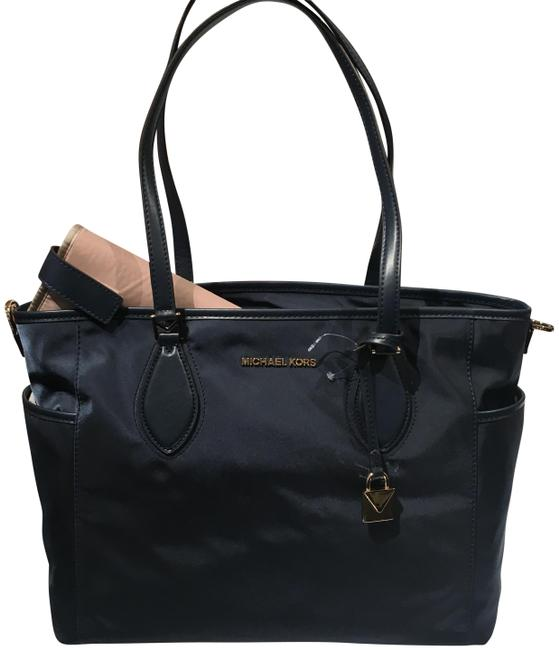 Item - Connie Tote Kelsey Blue Nylon and Leather Diaper Bag