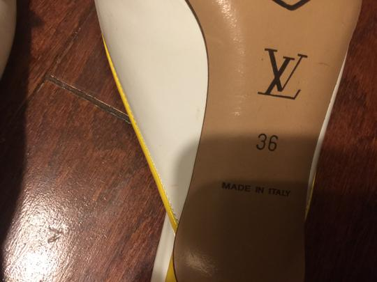 Louis Vuitton white with multi-color floral logos Mules Image 5