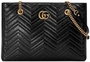 Gucci Gg Marmont Marmont Marmont Double G Marmont Marmont Tote in Black