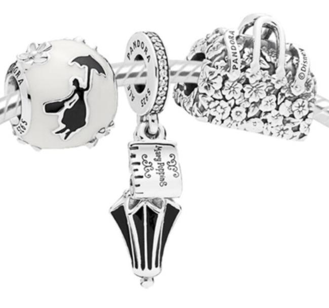 925 Sterling Silver Of Three Mary Poppins Charm