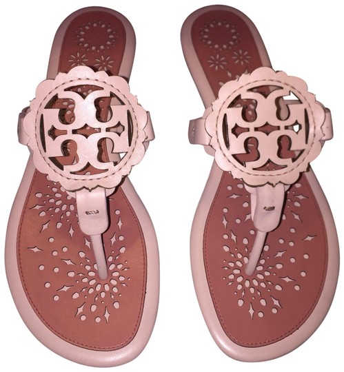 Tory Burch Miller Scallop Veg Leather Sandals Size Us 7 5