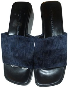 Athena Alexander Cushioned Made In Italy Navy Comfortable Imported blue Sandals