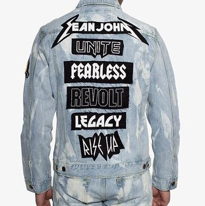 Sean John blue denim / Men's XL Size Womens Jean Jacket