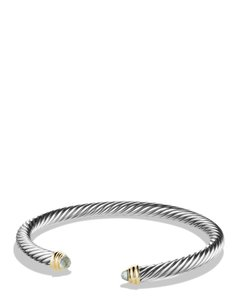 David Yurman Sterling silver David Yurman Cable Classics prasiolite cuff