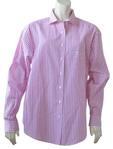 Faconnable Button Down Shirt Top Pink