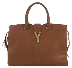 Saint Laurent Leather Tote in brown