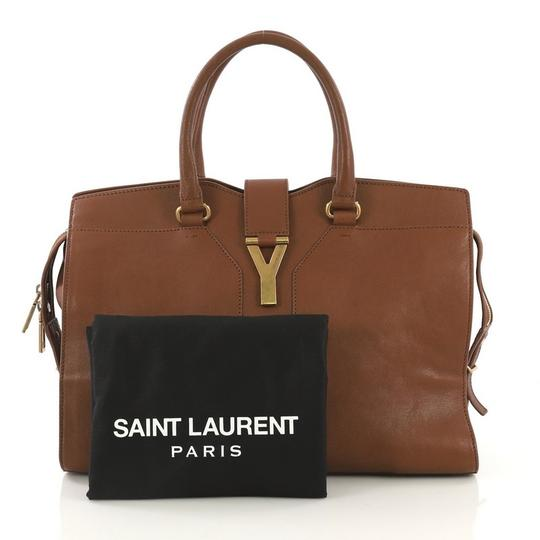 Saint Laurent Leather Tote in brown Image 1
