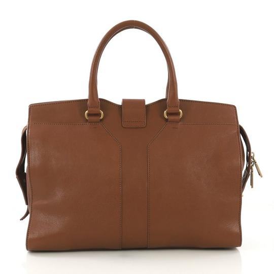 Saint Laurent Leather Tote in brown Image 3