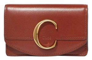 Chloé C logo leather small wallet