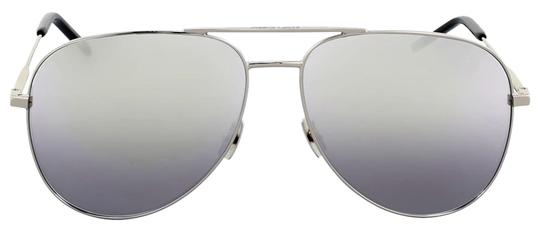 Preload https://img-static.tradesy.com/item/25467629/saint-laurent-silver-metal-aviator-sunglasses-0-3-540-540.jpg