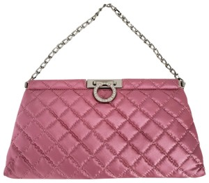 Hype Quilted Pink Clutch