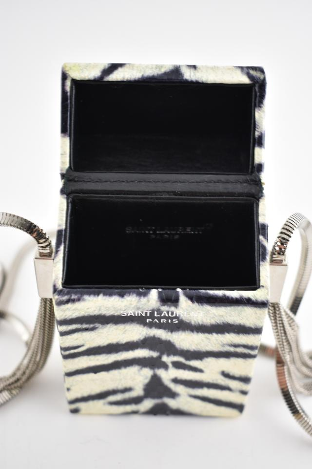 Saint Laurent Box Shoulder Ysl White Zebra Cigarette