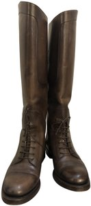 Gucci Italy Riding Outdoor Casual Brown Boots