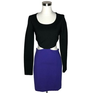 MARCIANO short dress Black Purple on Tradesy