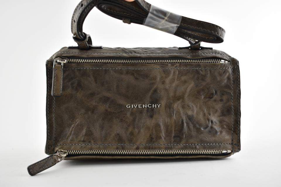 eb9ce70a5d Givenchy Mini Pandora Charcoal Pepe Wrinkled Zip Shoulder Brown ...