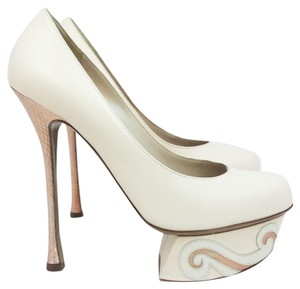 Nicholas Kirkwood Leather Pumps Heels IVORY Platforms