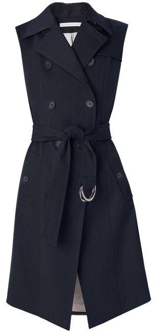 Item - Navy Socal Belted Trench Vest Size 2 (XS)