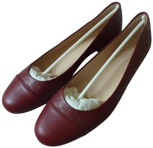 d5939feee Gucci Leather Logo Italian Red Flats