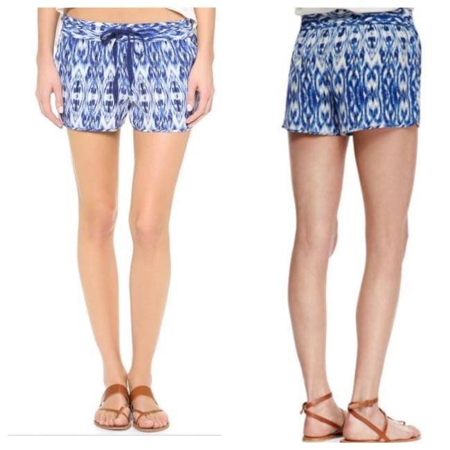 Item - Blue and White Silk Layana Shorts Size 0 (XS, 25)