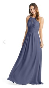 Azazie Stormy Chiffon Bonnie Traditional Bridesmaid/Mob Dress Size 10 (M)
