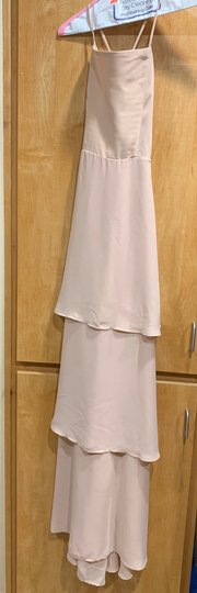 Show Me Your Mumu Blush Crepe Calypso Ruffle Destination Bridesmaid/Mob Dress Size 4 (S) Image 1