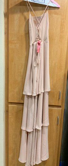 Show Me Your Mumu Blush Crepe Calypso Ruffle Destination Bridesmaid/Mob Dress Size 4 (S) Image 2