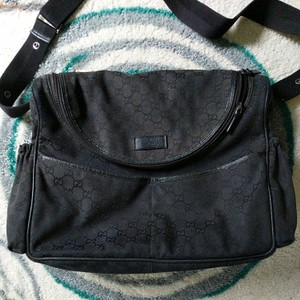 04881e91c Black Canvas Gucci Diaper Bags - Up to 70% off at Tradesy