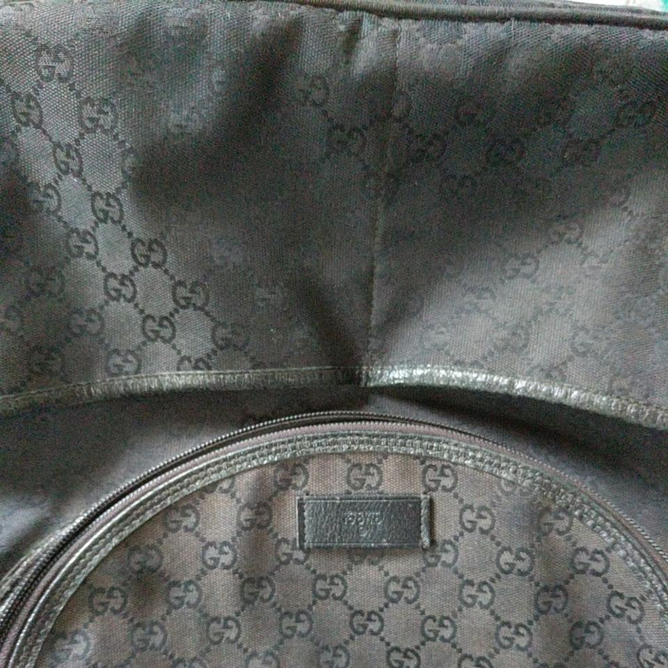 116749164 Gucci With Matching Changing Pad Black Canvas Diaper Bag - Tradesy