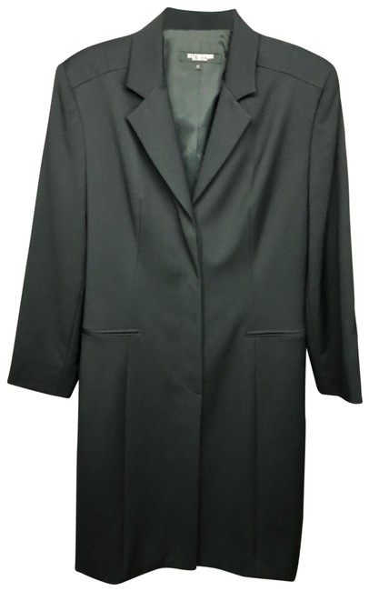 Item - Black Wool Long Jacket Blazer Size 6 (S)