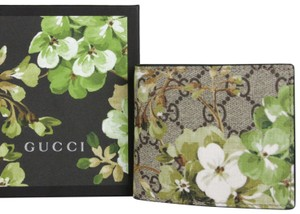 Gucci Beige/ebony GG Blooms Floral Coated Canvas Wallet 408666 8966
