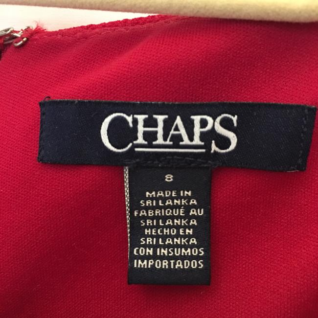 Chaps Red Short Night Out Dress Size 8 (M) Chaps Red Short Night Out Dress Size 8 (M) Image 3