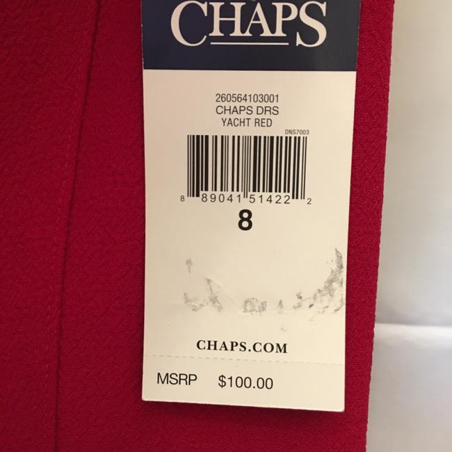 Chaps Red Short Night Out Dress Size 8 (M) Chaps Red Short Night Out Dress Size 8 (M) Image 5