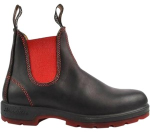 Blundstone Leather Lightweight Comfortable Hiking Black & red Boots