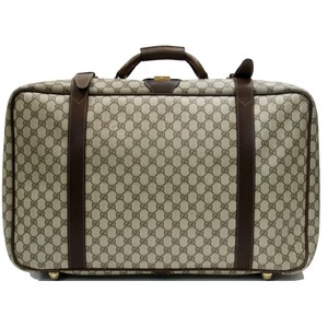 ec0f63d725bb Gucci Suitcase Luggage Monogram Backpack Brown Travel Bag