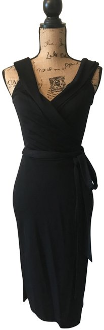 Item - Black Dvf Classic Mid-length Cocktail Dress Size 12 (L)