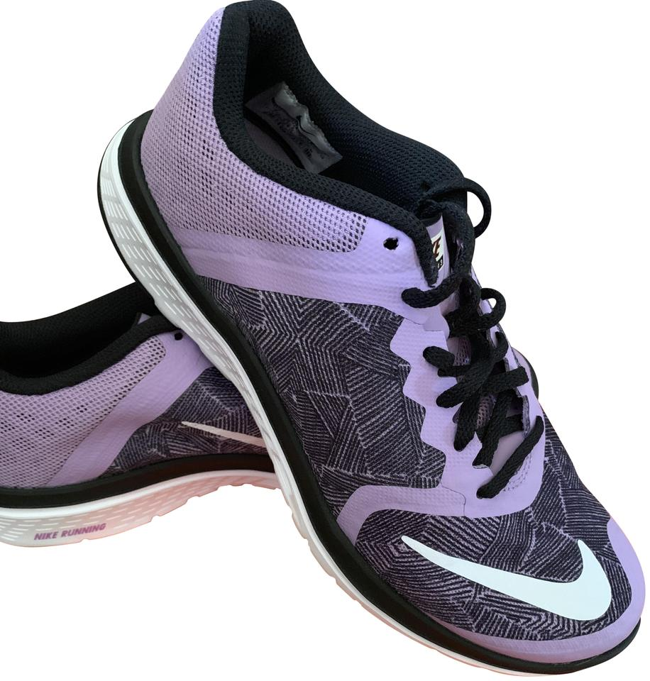 the best attitude ab576 2037a Nike Black White and Purple Fs Lite Run 3 Sneakers Size US 8 Regular (M, B)