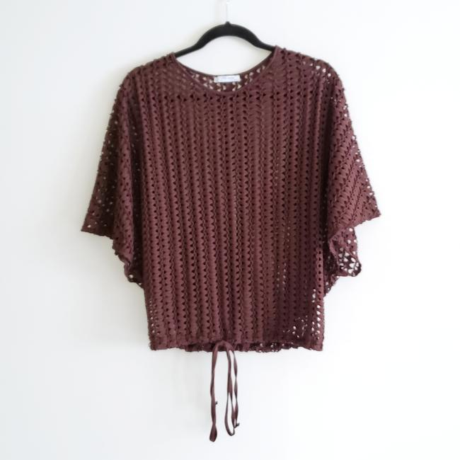 Item - Brown Batwing Swim Cover Up Tee Shirt Size 4 (S)