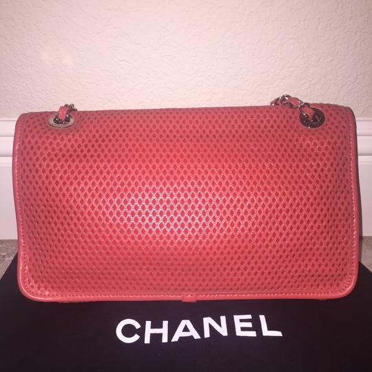 Chanel Perforated Classic Cc Leather Shoulder Bag Image 1