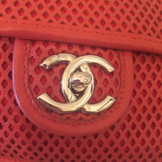 Chanel Perforated Classic Cc Leather Shoulder Bag Image 9