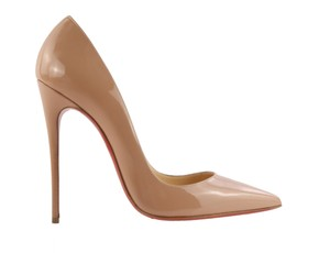 Christian Louboutin Patent Leather Leather Stiletto Nude Pumps