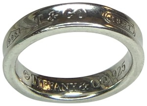 f11ea3249 Tiffany & Co. 1837 Collection Silver Concave Narrow Band Ring 4.5