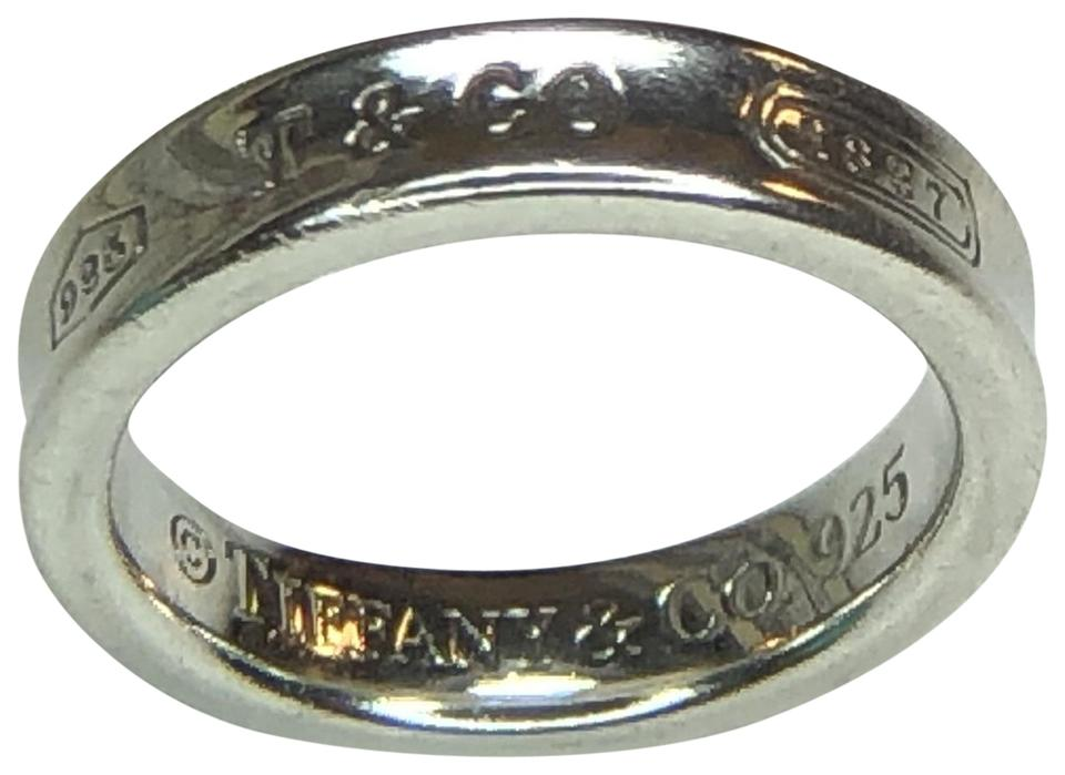b3849f3c3 Tiffany & Co. 1837 Collection Silver Concave Narrow Band Ring 4.5 Image 0  ...