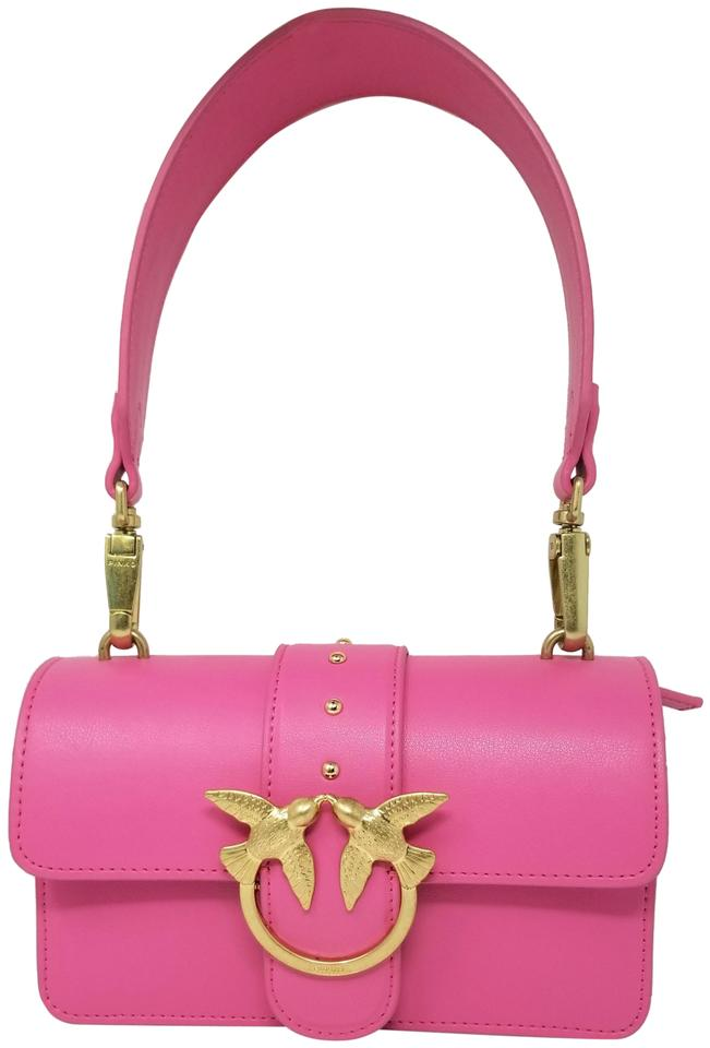 a252acb544 Pinko Simply Love Kissing Birds Mini Leather Shoulder Bag