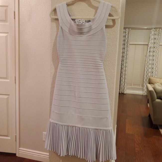 Item - Silver Blue Mid-length Cocktail Dress Size 4 (S)