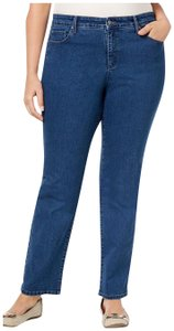 Charter Club Tapered High Waist Tummy Control Plus Size Straight Leg Jeans-Medium Wash